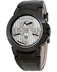 Harry Winston Ocean Triple Retrograde Chronograph Automatic Mens Watch - Black