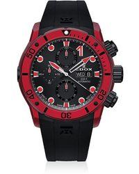 Edox Chronograph Automatic Watch  Clnrn Ninro - Red
