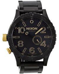 Nixon 51-30 Tide Black Tide Stainless Steel Mens Watch