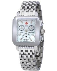 Michele Deco Chronograph Mother Of Pearl Dial Ladies Watch - Metallic