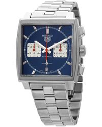 Tag Heuer Monaco Chronograph Automatic Blue Dial Mens Watch