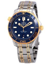 Omega Seamaster Sedna Blue Dial Steel And 18kt Yellow Gold Watch - Metallic