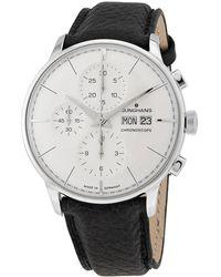 Junghans Chronoscope Terrassenbau Chronograph Automatic Mens Watch - Metallic
