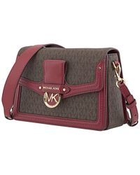 Michael Kors Red Ladies Jessie Medium Logo-print Shoulder Bag