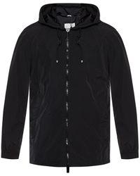 Burberry Mens Packable Hood Nylon Jacket - Black