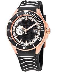 TechnoMarine Cruise Automatic Black Dial Mens Watch -118015 - Metallic