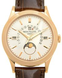 Patek Philippe Grand Complications Silvery Opaline Dial 18k Rose Gold Mens Watch -001 - Metallic