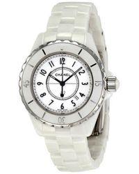 Chanel J12 Quartz White Dial Watch - Metallic