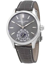 Frederique Constant Silver Dial Mens Horological Smartwatch -285lgs5b6 - Metallic