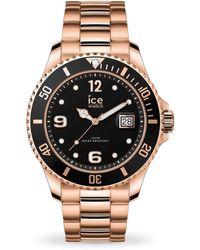 Ice-watch Quartz Black Dial Rose Gold-tone Watch - Multicolour