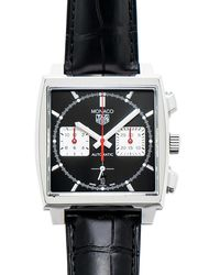 Tag Heuer Monaco Chronograph Automatic Black Dial Mens Watch