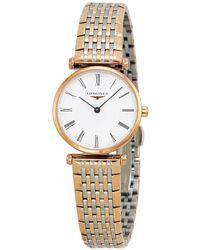Longines La Grande Classique White Dial Ladies Watch - Metallic