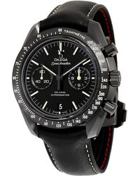 Omega Speedmaster Moonwatch Pitch Black Dark Side Of The Moon Chronograph Automatic Mens Watch