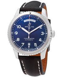 Breitling Navitimer 8 Automatic Chronometer Blue Dial Mens Watch