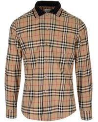 Burberry Icon Stripe Detail Vintage Check Cotton Shirt - Multicolour