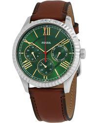 Fossil Chapman Quartz Green Dial Mens Watch