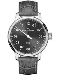 Meistersinger No 2 Hand Wind Black Dial Mens Watch - Multicolor