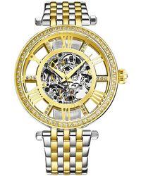 Stuhrling Original Legacy Automatic Gold Dial Ladies Watch - Metallic