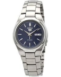 Seiko Series 5 Automatic Blue Textured Dial Mens Watch