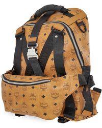 MCM Mens Jemison Vis Backpack - Brown