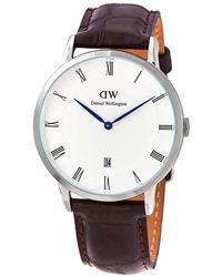 Daniel Wellington Dapper York Quartz White Dial Watch - Brown