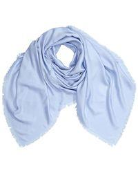 Loewe Ladies Oblongs Ja Scarves Light Blue Wool Nagram Scarf