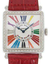 Franck Muller Master Square Colour Dreams Quartz Diamond White Dial Ladies Watch 6002hqzd1rcoldrm(ac) - Multicolour