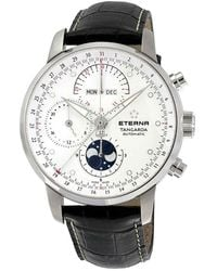 Eterna Tangaroa Moonphase Chrono Automatic Watch - Metallic
