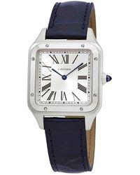 Cartier Santos-dumont Quartz Silver Dial Mens Watch - Metallic