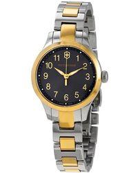 Victorinox Alliance Xs Quartz Gray Dial Two-tone Ladies Watch - Metallic