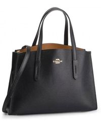 COACH Ladies Charlie Leather Carryall In Black