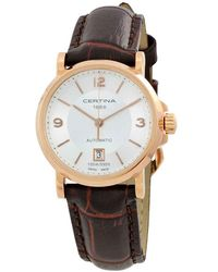 Certina Ds Caimano Automatic Silver Dial Watch C0172073603700 - Metallic