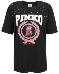 Pinko Little Red Lucia Heffernan Print T-shirt - Black