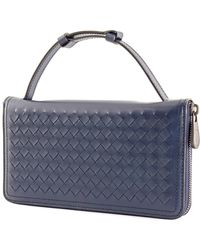 Bottega Veneta Blue Intrecciato Leather Travel Organizer
