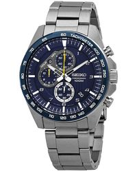 Seiko Motorsport Chronograph Blue Dial Mens Watch