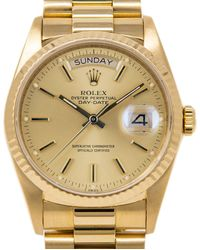 Rolex Pre-owned Day-date Automatic Chronometer Champagne Dial Mens Watch  Csp - Metallic