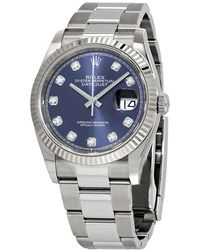 Rolex Datejust 36 Automatic Blue Diamond Dial Oyster Watch