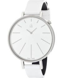 Calvin Klein Quartz Silver Dial Ladies Watch - Metallic