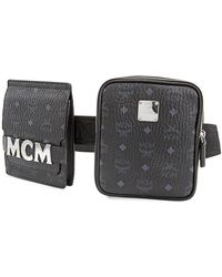 MCM Ladies Leather Stark Black Stark Belt Bag