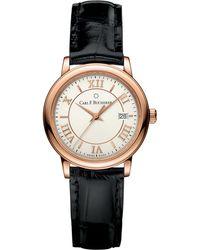 Carl F. Bucherer 00.10312.03.15.01 Adamavi Rose-gold Sapphire Crystal And Leather Watch - Metallic