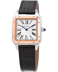 Cartier Santos-dumont Quartz Silver Dial Unisex Watch - Metallic