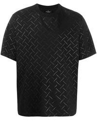 Marcelo Burlon Mens Black Multi Logo Print T-shirt