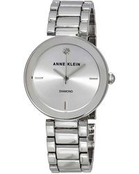 Anne Klein Silver Dial Ladies Watch - Metallic