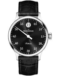 Meistersinger Salthora Automatic Black Dial Mens Watch