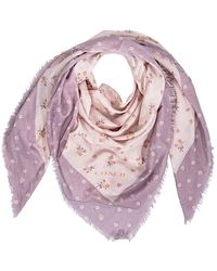 COACH Square Scarves Ice Atm Flr Osq - Pink