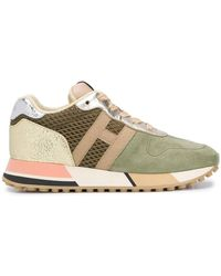 Hogan - Ladies H383 Suede And Leather Sneakers - Lyst