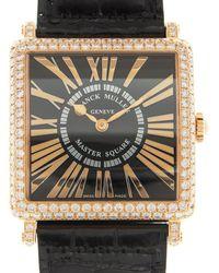 Franck Muller Master Square Black Dial Unisex Watch 6002mqzreld(5n)-bk - Metallic