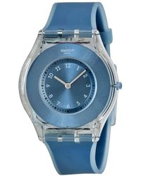 Swatch Dive In Blue Dial Blue Silicone Ladies Watch