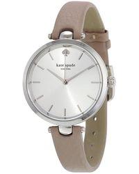 Kate Spade - Women's Holland Gray Leather Strap Watch 34mm 1yru0813 - Lyst
