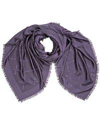 Longchamp Ladies Stole Scarves Purple Lc Madeleine 145x145